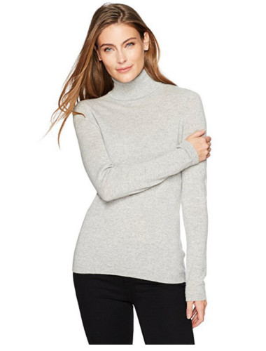 Cashmere Soft 12-Gauge Turtleneck Pullover Sweater