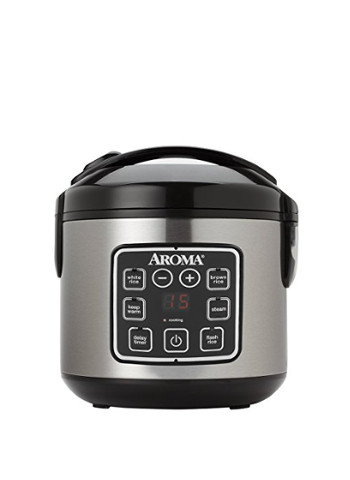 Digital Cool-Touch Rice Cooker and Food Steamer, Stainless Steel