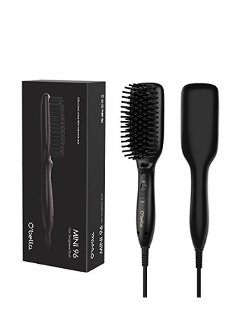 Hair Straightener Brush-Dual Voltage Fast Heating Mini Straightening Brush
