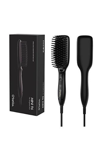 Hair Straightener Brush-Dual Voltage Fast Heating Mini Straightening Brush