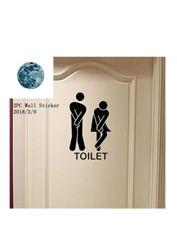 Removable Cute Man Woman Washroom Toilet WC Wall Sticker Family DIY Decor