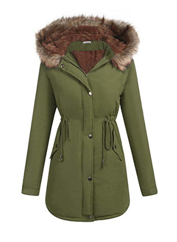 Military Hooded Warm Winter Parkas Faux Fur Lined Jacket Coats