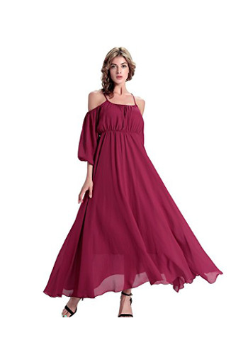 Cherry Floral Summer Maxi Dress