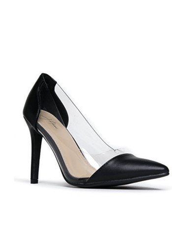 Clear Pointed Cap Toe Pumps – Comfortable Slip On