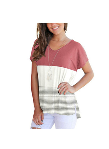 Tunic Top Short Sleeve V-Neck High Low Sweatshirt