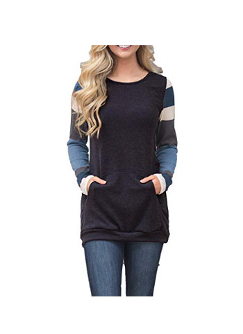 Lightweight Color Block Long Sleeve Sweatshirt