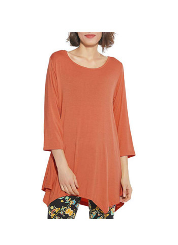 BELAROI 3/4 Sleeve Swing Tunic Tops Plus Size T Shirt