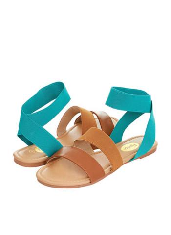 Floopi Summer Elastic Ankle strap Flat Sandal