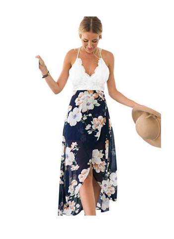 Blooming Jelly Deep V Neck Sleeveless Summer Floral Maxi Dress