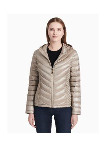 chevron down packable jacket