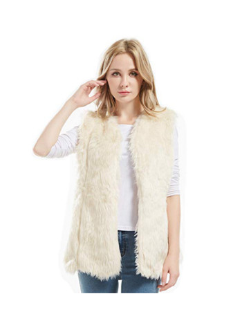 Bellivera Lady Faux Fur Vest Warm Sleeveless Outwear