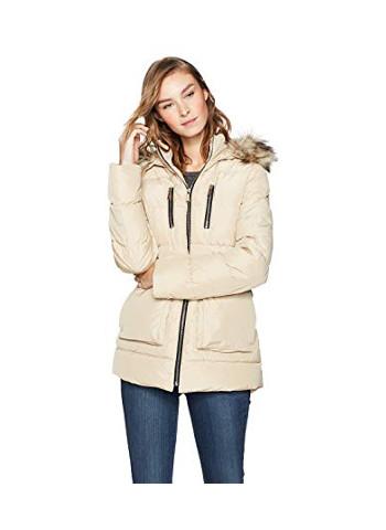 Outerwear Women's Zip-Front A-Line Parka Puffer Coat
