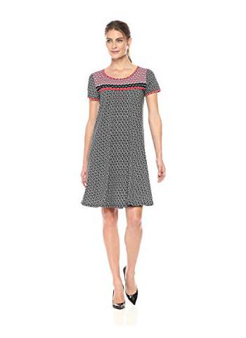 Women's Short Sleeve Scoop Neck T-Shirt Dress