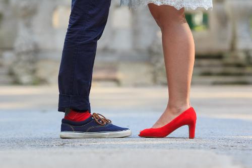 Wear heels to get slimmer legs?