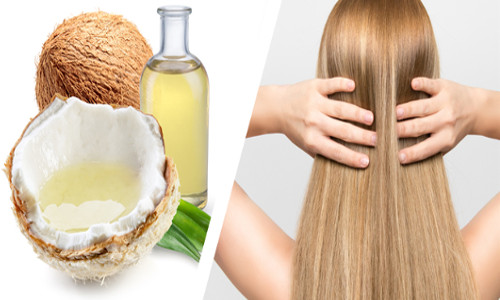 Coconut oil can help you get shiny, healthy and lush hairs.