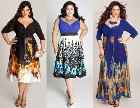 Look slim in deep neckline dresses