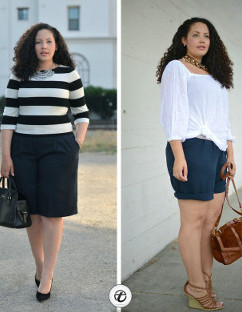 Can skirt hemlines create optical slimming illusions?